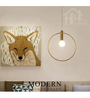 HH Metallic 1-Light Nordic Mini Modern Pendant