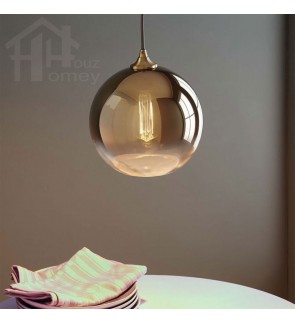 HH Metallic 1-Light Copper Plated Globe Pendant