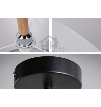 HH Minimalist 1-Light Fabric Drum Cylinder Pendant