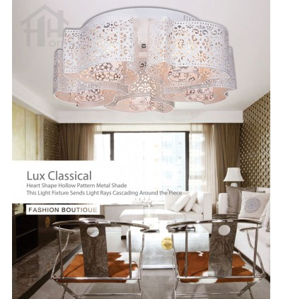 HH Classical 5-Light White Metal Windmill Ceiling Fixture