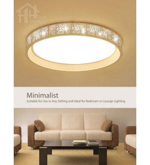 HH Minimalist Integrated LED White Jungle Lace Ceiling Flushmount