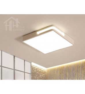 HH Minimalist Integrated LED White Metal Simple Square Ceiling Flushmount