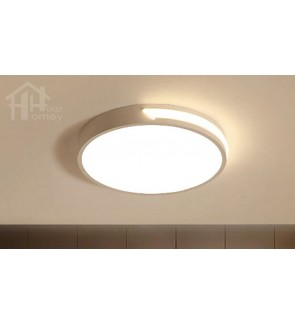 HH Minimalist Integrated LED White Metal Simple Round Ceiling Flushmount