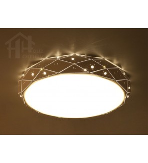 HH Classical Integrated LED White Metal Diamond Ceiling Flushmount