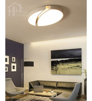 HH Minimalist Integrated LED White Metal Oval Ceiling Flushmount