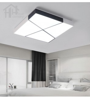 HH Minimalist Integrated LED Metal Assembled Square Ceiling Flushmount