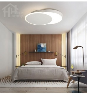 HH Minimalist Integrated LED White Metal Multiple Circle Ceiling Flushmount
