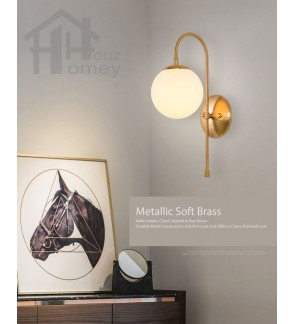 HH Metallic 1-Light Gold Colour Wall Light