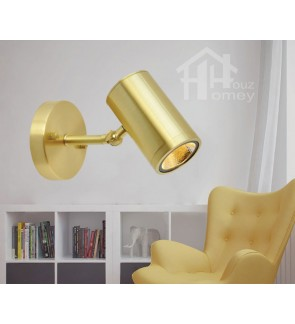 HH Metallic 1-Light Gold Colour Adjustable Wall Light