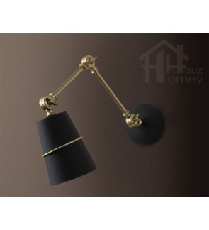 HH Metallic 1-Light Brass Adjustable Wall Light