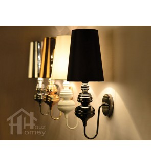 HH Classical 1-Light Metal Wall Light with Cone Shade
