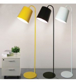HH Colour-Pop 1-Light Metal Floor Lamp with Metal Cone Shade