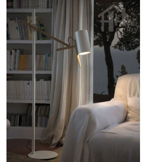 HH Minimalist 1-Light Adjustable Metal Floor Lamp with Metal Cylinder Shade