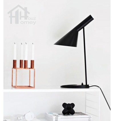 HH Minimalist 1-Light Metal Table Lamp with Metal Cone Shade