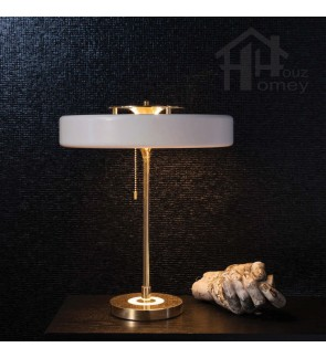 HH Metallic 3-Light Revolve Metal Table Lamp with Acrylic Diffuser