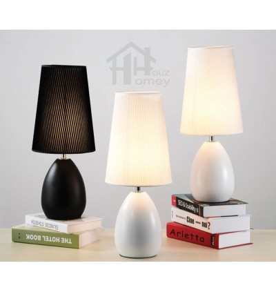 HH Minimalist 1-Light Metal Table Lamp with Fabric Cone Shade
