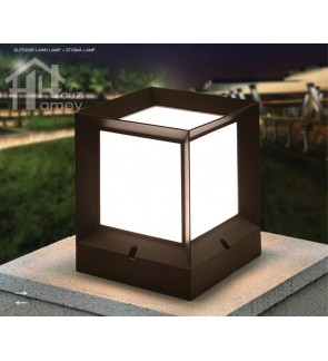 HH Black Colour Simple Style Cube Pillar Light