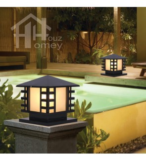 HH Black Colour Simple Style Pillar Light