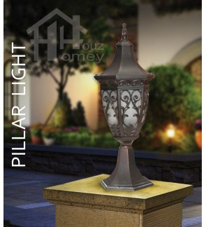 HH Antique Colour Light Luxury Style Tall Pillar Light
