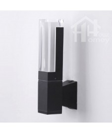 HH Minimal Integrated LED Metal Square Tube Shaped Outdoor Wall Light