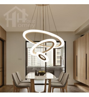 HH Minimalist Integrated LED Nordic Simplicity Circular Pendant