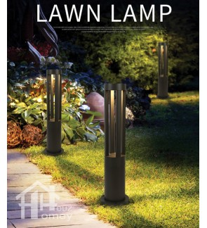 HH Short Pillar Round Lawn Lamp