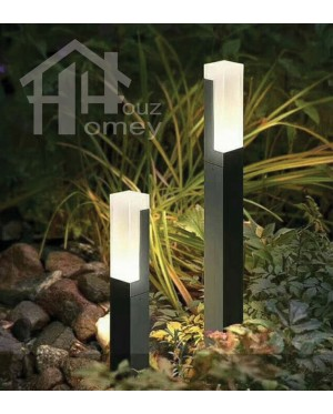 HH Slim Pillar Square Lawn Lamp with Acrylic Diffuser