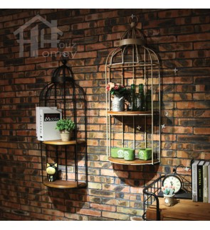 HH Metal Bird Cage Wall Hanging Planter Rack