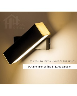 HH Minimalist Integrated LED Rotatable Bedside Wall Light