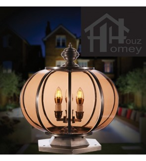 HH Solid Brass Round Shape Pillar Light