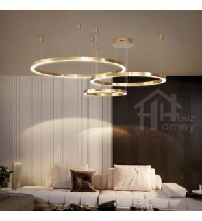 HH Metallic Integrated LED Classic Circular Pendant