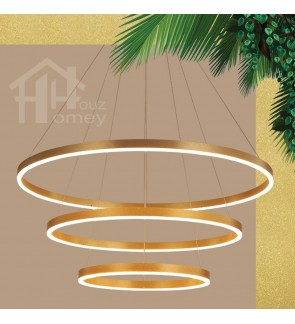 HH Metallic Integrated LED Nordic Circular Pendant