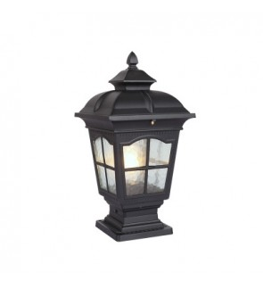 HH Black Colour Crisscross Pillar Light