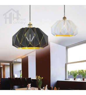 HH Classical 1-Light Hollow Wrought Pendant